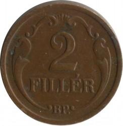 Монета > 2филлера, 1926-1940 - Венгрия  - reverse