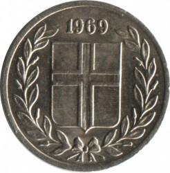 Mynt > 10aurar, 1969 - Island  - obverse