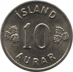 Mynt > 10aurar, 1969 - Island  - reverse