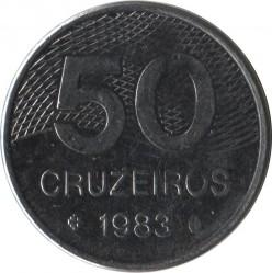Coin > 50cruzeiros, 1981-1984 - Brazil  - reverse