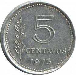 Кованица > 5центи, 1970-1975 - Аргентина  - reverse