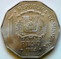 Coin > 1peso, 1983-1984 - Dominican Republic  - obverse