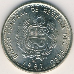 Pièce > 5intis, 1985-1988 - Pérou  - obverse