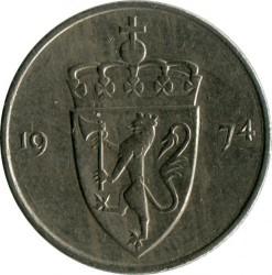 Monedă > 50ore, 1974-1996 - Norvegia  - obverse