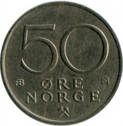 Monedă > 50ore, 1974-1996 - Norvegia  - reverse