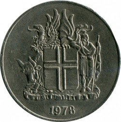 Moneta > 10koron, 1967-1980 - Islandia  - reverse