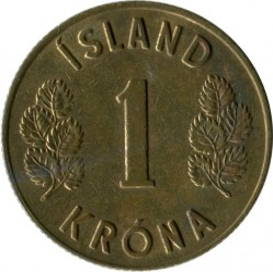Monēta > 1krona, 1957-1975 - Islande  - obverse