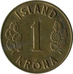 Monēta > 1krona, 1957-1975 - Islande  - reverse