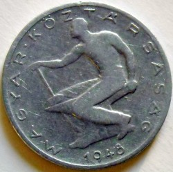 Coin > 50 filler, 1948 - Hungary  - obverse