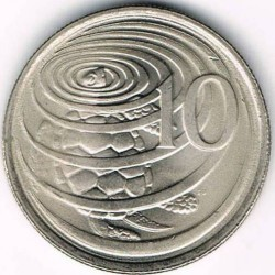 Coin > 10cents, 1987-1990 - Cayman Islands  - reverse