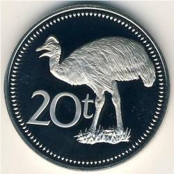 Minca > 20toea, 1975-1999 - Papua Nová Guinea  - reverse