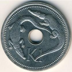 Монета > 1кина, 1975-1999 - Папуа - Новая Гвинея  - reverse