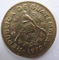 Moneda > 1centavo, 1965-1970 - Guatemala  - obverse