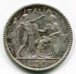 Νόμισμα > 20Λίρες, 1927-1928 - Ιταλία  - reverse