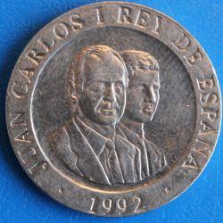 Монета > 200песети, 1992 - Испания  (Madrid - European Capital of Culture /Bear by tree/) - obverse