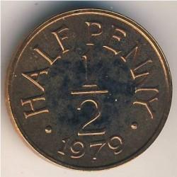Moeda > ½pennynovo, 1979 - Guernsey  - reverse