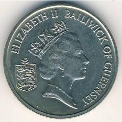 Moneta > 5pensów, 1985-1990 - Guernsey  - obverse