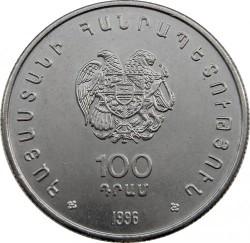 Moneda > 100dram, 1996 - Armenia  (XXXII Olimpiada de Ajedrez en Yerevan) - obverse