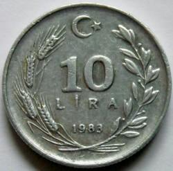Монета > 10лири, 1983 - Турция  - reverse