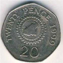 Coin > 20pence, 1999-2012 - Guernsey  - reverse