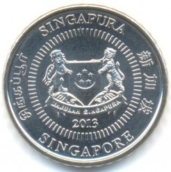 Münze > 50Cent, 2013-2017 - Singapur   - reverse