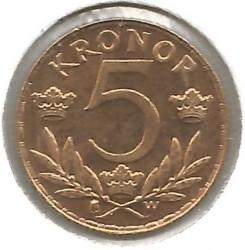 Кованица > 5круна, 1920 - Шведкса  - reverse