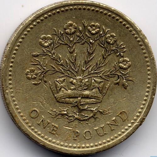 1 Pfund 1986 1991 Vereinigtes Königreich Münzen Wert Ucoinnet