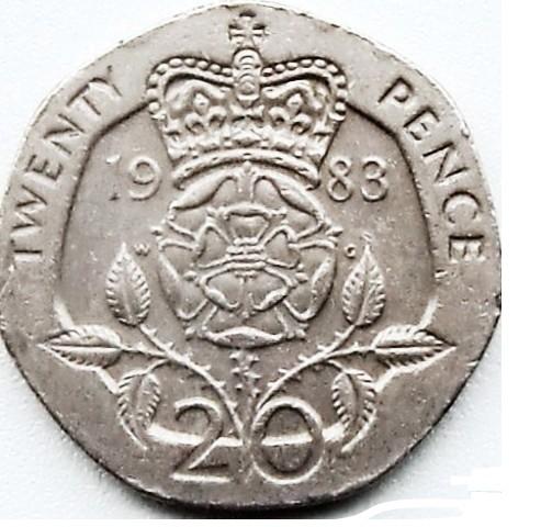 20 Pence 1982 1984 Vereinigtes Königreich Münzen Wert Ucoinnet
