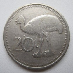 Mynt > 20toea, 1987 - Papua Ny-Guinea  - reverse