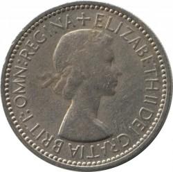 Moneda > 1chelín, 1953 - Reino Unido  (Escudo de Escocia: León rampante mirando hacia la izquierda en un escudo coronado) - obverse