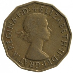 Moeda > 3pence, 1954-1970 - Reino Unido  - reverse