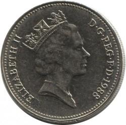 Mynt > 5pence, 1985-1990 - Storbritannia  - obverse