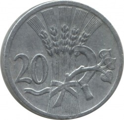 Coin > 20 hellers, 1940-1944 - Bohemia and Moravia  - reverse