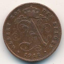"""Münze > 1Centime, 1912-1914 - Belgien  (Legende in französisch - """"ALBERT ROI DES BELGES"""") - obverse"""