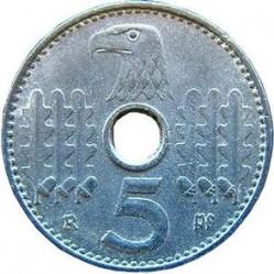Moneda > 5reichspfennig, 1940-1941 - Alemania - Tercer Reich  - reverse