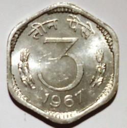 Moneta > 3paise, 1964-1967 - Indie  - reverse