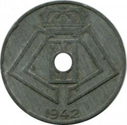 Minca > 10centimes, 1941-1943 - Belgicko  (Legend - 'BELGIQUE - BELGIE') - obverse