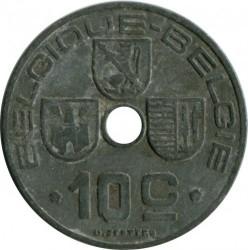 Minca > 10centimes, 1941-1943 - Belgicko  (Legend - 'BELGIQUE - BELGIE') - reverse