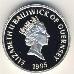 Moneda > 1libra, 1995 - Guernesey  (95 Aniversario - Nacimiento de la Reina Madre) - obverse
