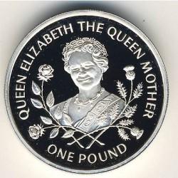 Moneda > 1libra, 1995 - Guernesey  (95 Aniversario - Nacimiento de la Reina Madre) - reverse