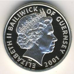 Монета > 1фунт, 2001 - Гернсі  (75-та річниця - Народження Королеви Єлизавети ІІ) - obverse