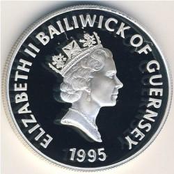 Moneta > 5funtów, 1995 - Guernsey  (Królowa Matka ) - obverse