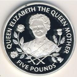 Moneta > 5funtów, 1995 - Guernsey  (Królowa Matka ) - reverse