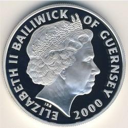 Moneta > 5funtów, 2000 - Guernsey  (100 rocznica urodzin - Królowa Matka) - obverse
