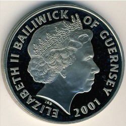Moneta > 5funtów, 2001 - Guernsey  (100 rocznica śmierci - Królowa Victoria ) - obverse