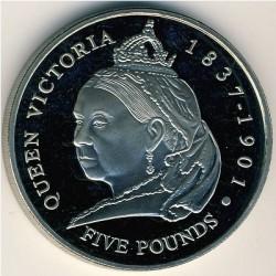 Moneta > 5funtów, 2001 - Guernsey  (100 rocznica śmierci - Królowa Victoria ) - reverse