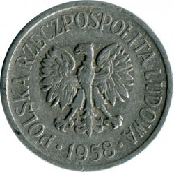 Coin > 5groszy, 1958-1972 - Poland  - reverse