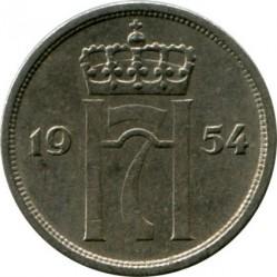 Moneda > 10ore, 1951-1957 - Noruega  - obverse