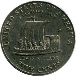 錢幣 > 5分, 2004 - 美國  (Bicentenary of Lewis and Clark Expedition - Keelboat) - reverse