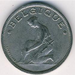 "Minca > 1frank, 1922-1934 - Belgicko  (Názov vo francúzštine - ""BELGIQUE"") - obverse"